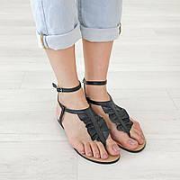 Сандалии женские Woman's heel черные (О-840)