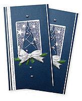 Открытка визитка синего цвета