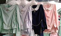 Нарядная блуза под школьную форму для девочек