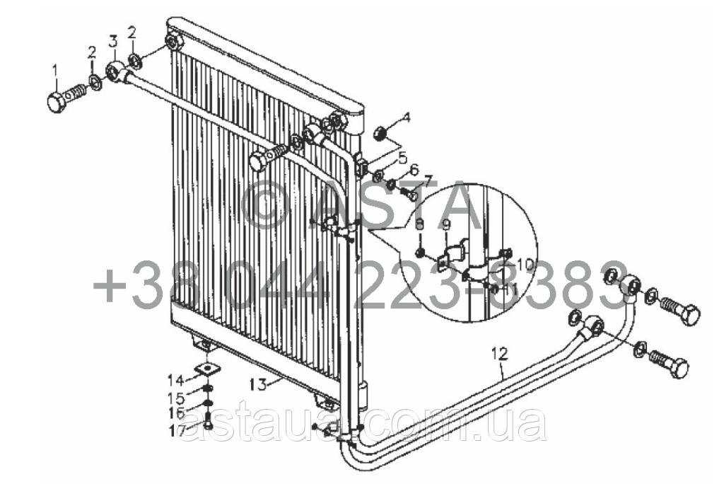 Масляный радиатор - SZ4RTF460000-2 на YTO-X704