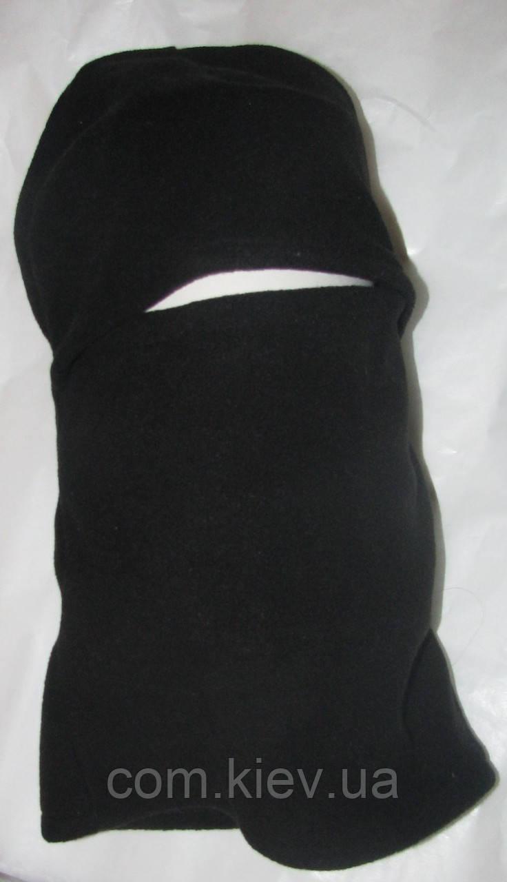 Флисовая теплая черная балаклава