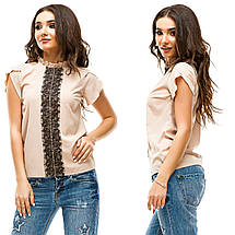 Блузка с гипюровой вставкой, фото 3