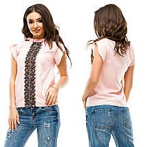 Блузка с гипюровой вставкой, фото 2