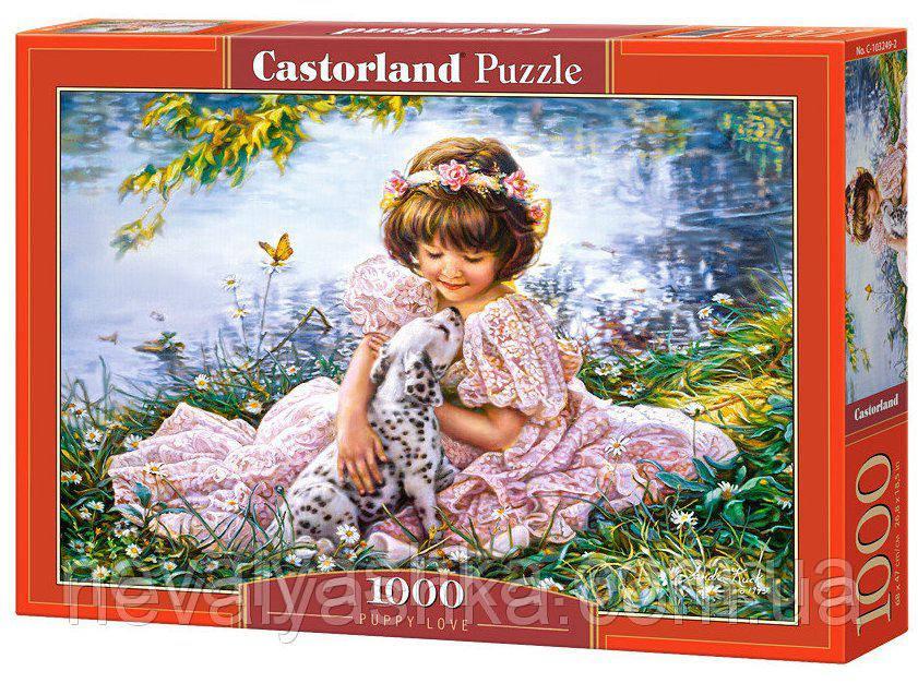 Пазл Castorland Девочка с собачкой, 1000 эл., C-103249, 006927