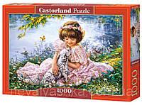 Пазл Castorland Девочка с собачкой, 1000 эл., C-103249, 006927, фото 1