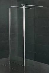 Стенка c подвижным профилем 350*1900 мм, каленое прозрачное стекло 8мм