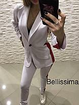 Костюм брюки с лампасами и пиджак с полосой джерси, фото 3