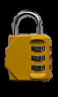 Багажний замок кодовий жовтий  /Багажный замок кодовый желтый