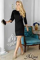 Платье свободного кроя рукав украшен пайетками, фото 3