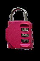 Багажний замок кодовий рожевий  /Багажный замок кодовый розовый
