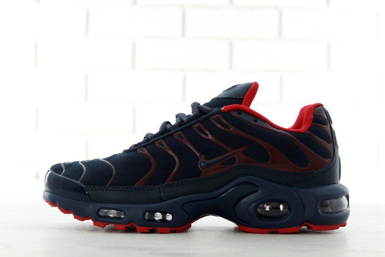 Кроссовки мужские в стиле Nike Air Max TN Plus код товара KD-11563. Темно 84ed7cdb73ea6