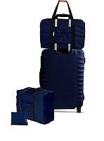 Дорожня сумка для ручної поклажі Coverbag синя /Дорожная сумка для ручной клади Coverbag синяя
