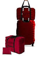 Дорожня сумка для ручної поклажі Coverbag бордо /Дорожная сумка для ручной клади Coverbag бордо