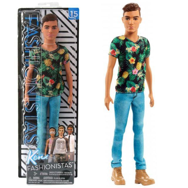 """Лялька Барбі """"Гра з модою"""" - Кен в футболці з квітковим принтом  Кукла Кен в футболке с цветочным принтом"""