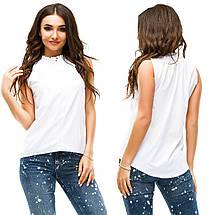 Однотонная блузка без рукавов, фото 3