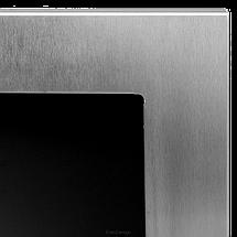 Біокамін GLOBMETAL 900x400 срібний зі склом, фото 2