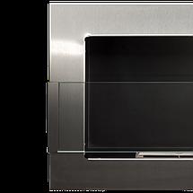 Біокамін GLOBMETAL 900x400 срібний зі склом, фото 3