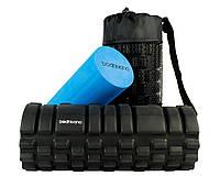 Массажный роллер Bodhivana Trigger Point Foam Roller 2-в-1 (33x14 см, Blue)