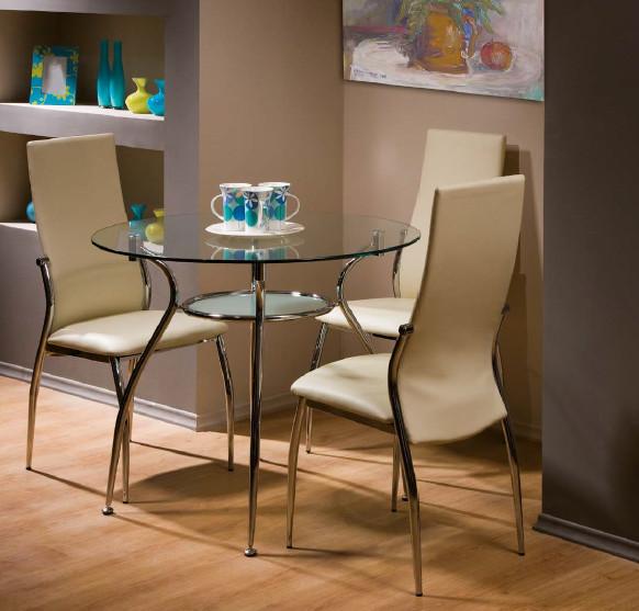 Круглий скляний стіл Finezja A