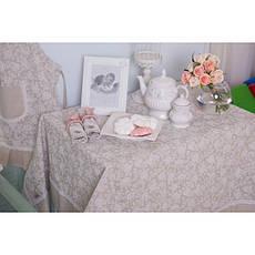 Скатерть праздничная с кантом White rose, фото 2
