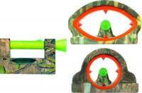 Мушка Dead Ringer MOSSY OAK KILLER COMBO с целиком, круг и овал, светонакопит, камуфл,на планку 6.4, 8 и 9.5 м