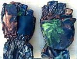 Перчатки-варежки отстегивающиеся  зимние камуфляж, фото 2