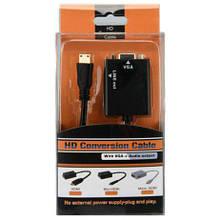 Конвертер HDMI на VGA монитор со звуком PS3 PS4 T2 Xbox заглушка т2