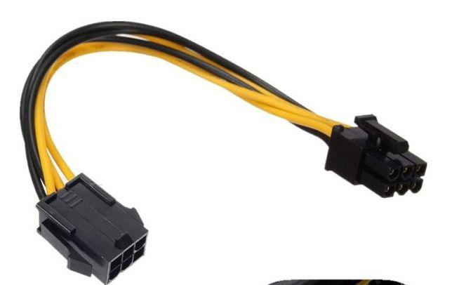 Кабель удлинитель GPU 18 AWG 20 см переходник 6 pin -> 6 пин PCI-E