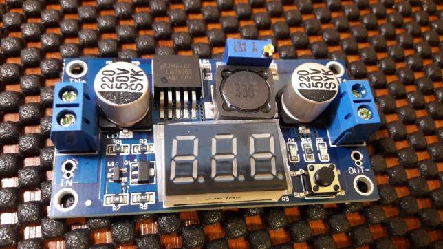 Понижающий регулируемый LM2596 S DC-DC блок питания с дисплеем 2А