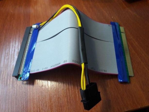 Riser (Райзер) PCI-E 16x to 16x питание MOLEX удлинитель шлейф