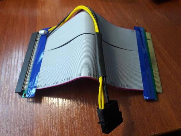 Riser (Райзер) PCI-E 16x to 16x питание MOLEX удлинитель шлейф, фото 2