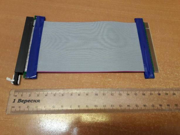 Райзер шлейф для видеокарты PCI-E 16 -16 без питания переходник, фото 2