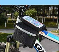 ПРЕМИУМ ROCKBROS вело сумка на раму сьемный верх до 6 тел. велосумка