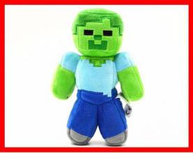 Мягкая игрушка плюшевый зомби Minecraft 17 /25 см майнкрафт, Zombie