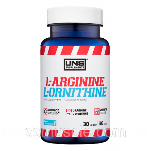 Аргинин UNS L-Arginine and L-Ornithine 30 tabs