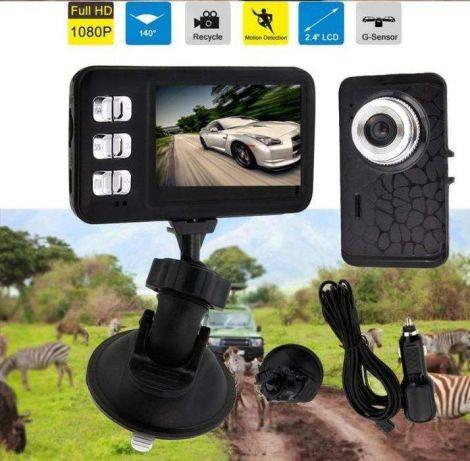 Автомобильный видео регистратор HD 1280720 2.4 LCD 170 градусов