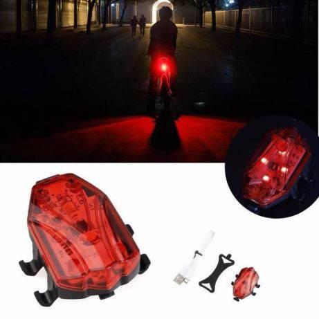 Вело габарит 4 LED USB мигалка моргалка велофара велосипед УСБ стоп, фото 2