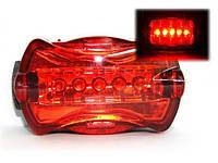 Велофара задняя габарит маячок 5 LED диодов 6 режимов моргалка стоп