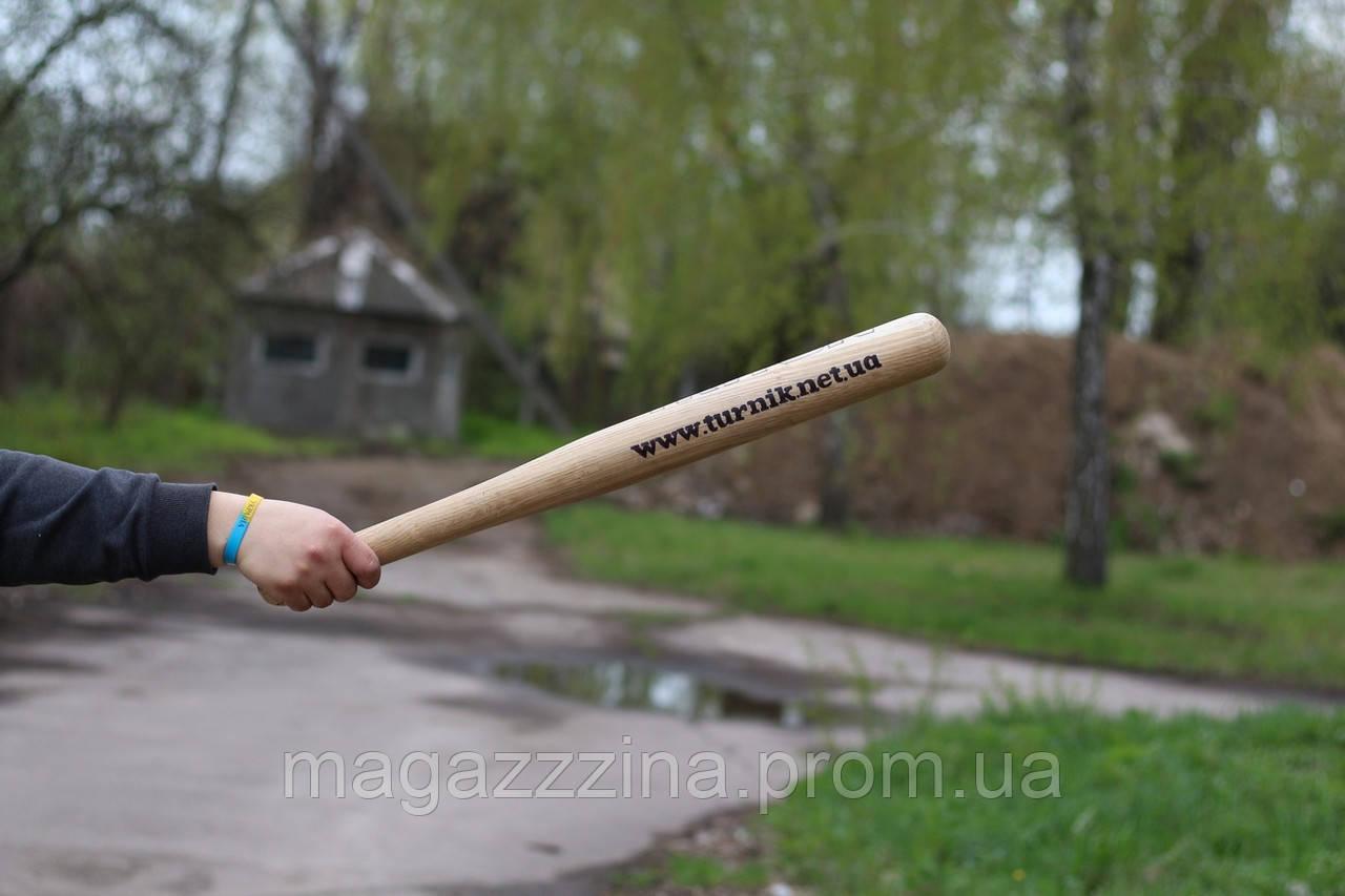Маленькая бейсбольная бита 40 см с лого/надписью