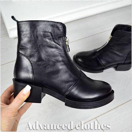 Ботинки с молниями натуральная кожа внутри байка , фото 2