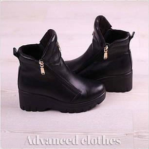 Ботинки с молнией сбоку натуральная кожа байка, фото 2