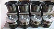 Комплект поршневой (поршневая группа) FAW 1061 (4 гильзы+4 поршня+4 пальца+кольца) CA4DF2-13 4,75L