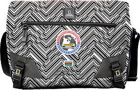 Сумка с отделом для ноутбука NATIONAL GEOGRAPHIC Explorer N01106;74 черный с принтом