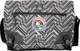 Сумка с отделом для ноутбука NATIONAL GEOGRAPHIC Explorer N01106;74 черный с принтом , фото 2