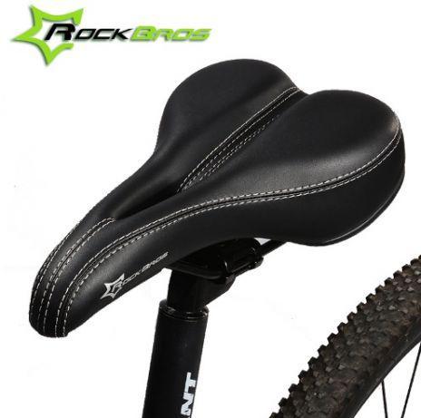 ПРЕМИУМ супер мягкое вело седло Rockbros ZD10002BK прошитое велоседло
