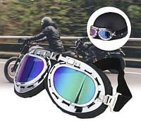 Очки-маска мото кросс лыжная сноуборд скутер вело лыжные хамелеон
