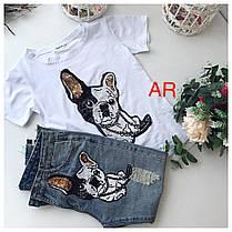 Костюм джинсы и футболка с накаткой бульдог, фото 3