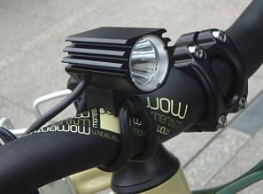 Велофара на 1 диоде CREE T6 вело фара 8.4в. SOLARSTORM 700 люмен