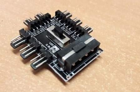 Переходник MOLEX на 8 кулеров разветвитель молекс 3 pin hub кулер fan