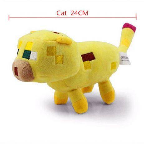 Игрушка MineCraft майнкрафт оцелот ozelot 16 -32 см. желтый кот, фото 2
